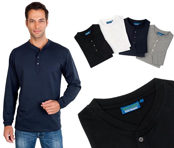 Longsleeve Serafino Shirt