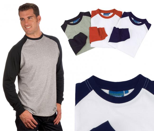 Longsleeve Baseball Shirt Gr. 5XL