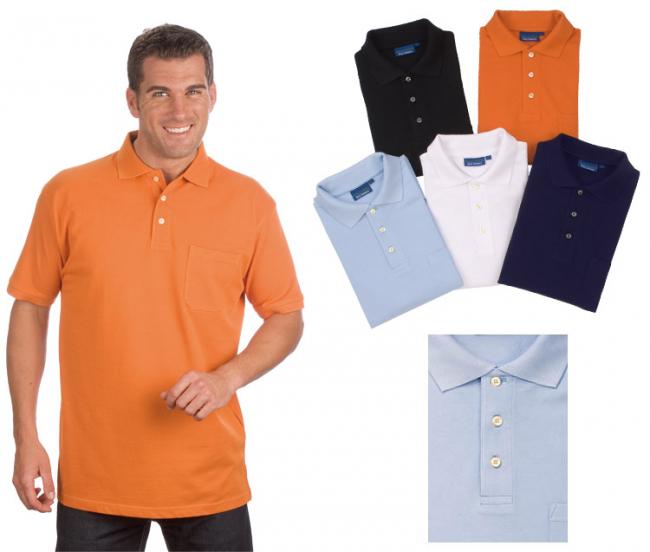 Kurzarm Poloshirt mit Brusttasche Gr. 5XL