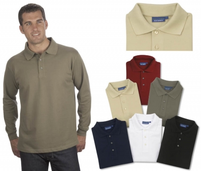 - Long Sleeve Polo Golf Shirt