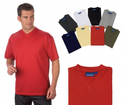 Pack of 2 Combed Cotton V-Neck T-Shirt