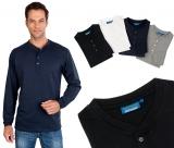Langarm Serafino Shirt mit Knopfleiste Gr. M