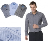 Long Sleeve Striped Mens Shirt